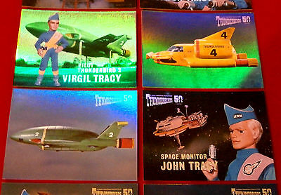 THUNDERBIRDS 50 Years - COMPLETE CHASE SET - 10 Mirror Foil Cards - 2015 12