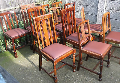 LARGE COLLECTION OF OAK 1920s DINING CHAIRS- IDEAL FOR PUBS, RESTAURANTS ETC 5