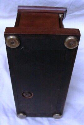 A  J. W. Benson Mahogany, Striking Mantel Clock. 8