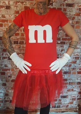 M&M Kostüm MM Fans Tüllrock Damen T-Shirt Tutu Tütü Fasching Gruppenkostüm 4
