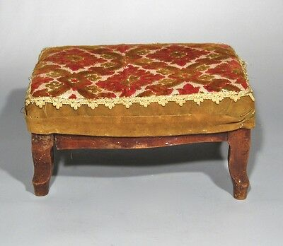 Antique French Country Footstool Louis XV Style 4