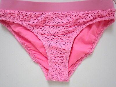 5962c62043530 2 2 of 5 Girls bikini ex River Island Crochet Pink Swimwear Bandeau Halter  neck RRP £14. 3