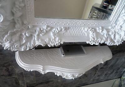 Wall Console/Spiegelkonsolen/Wall Shelf Baroque Antique White B: 45cm cp68 9