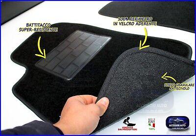 Tappetini Moquette Auto per Nissan Qashqai 2007>2014 Tappeti + bottoni fissaggio 4