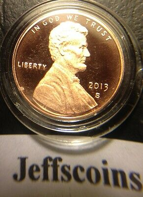 2013 S Mint Proof Lincoln Shield Cent Deep Cameo 1¢ From Set Shipping NOW #i2012 2