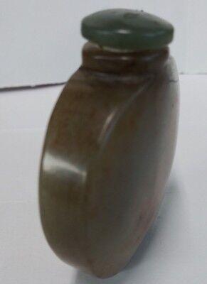 China Old Hetian Jade Snuff Bottle 古玩和田玉鼻烟壶  鼻 3
