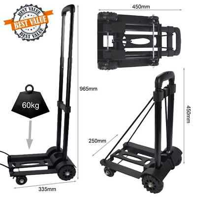 4 WHEELS SHOPPING TRAVEL BOAT Folding FOLDABLE Luggage Hand Trolley Lightweight