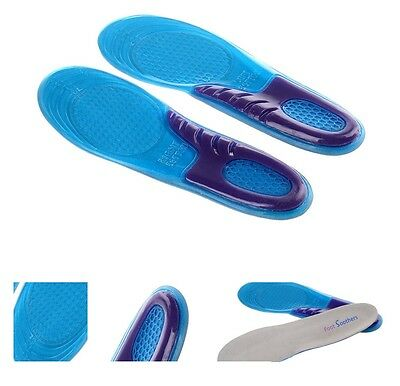 UK High Quality New Orthotic Arch Support Massaging Gel Insoles Inserts