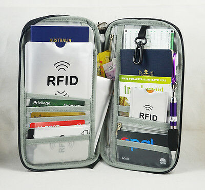 Travel Wallet Ticket Holder with RFID Blocking Covers for Passport iPhone Xs 2
