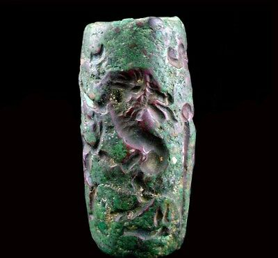 Superb large Bactrian copper bead seal Circa 2nd  Millennium B.C.  x9201 3