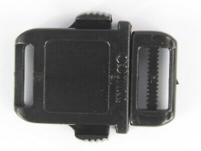 Side Release Buckles Black Plastic Clips Belts Rucksacks  Replacement All Sizes 7