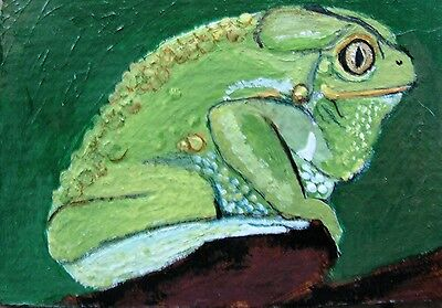 """A871    Original Acrylic Aceo  Painting By Ljh        """"Octopus"""" 10"""