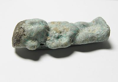 Zurqieh -Af47- Ancient Egypt Large Pataikos Faience Amulet. 600 - 300 B.c 4