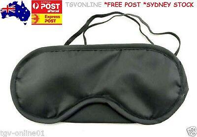 Travel Eye Mask, Sleep Sleeping Cover Rest Eyepatch Blindfold (Black) New 3