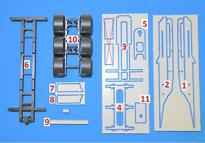 1:87 Umbausatz für 3-achs Dolly für Herpa Container Gigaliner  Eigenbau Umbau