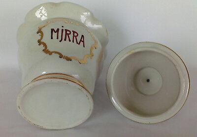 """Apotheker Gefäß """"Mjrra"""" Porzellan - schöne Form, antik, Goldauflage, apothecary 4"""
