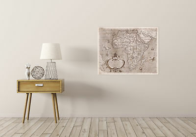 Map Antique Arnoldi 1600 Africa Old Historic Large Replica Canvas Art Print 2