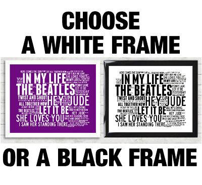 QUEEN WORD ART Print Music Song Titles Lyrics Poster Freddie Mercury Radio  Gaga