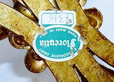 Antique Italian Tole Gold Gild Gilt Fleur de Lis 6 Wall Sconce Candelabra 43x29 12