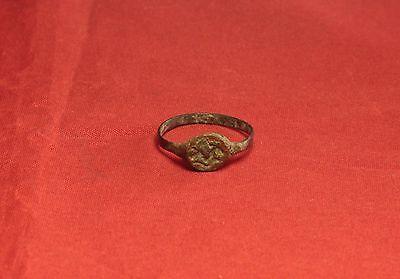 Ancient Roman Seal Ring, Finger Ring, 5. Century 2
