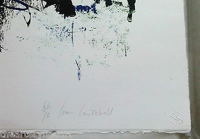 JOAN MITCHELL 'Bedford III' 1981 SIGNED Lithograph Limited Edition Print Framed 6