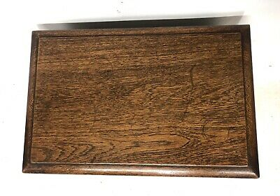 Antique Carved Oak Joint Stool Slipper Box / Occasional Table / Lamp Stand 7