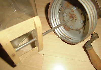 butterglas antik butter schleuder glas 2l D.R.G.M rest werbung bären marke label 12