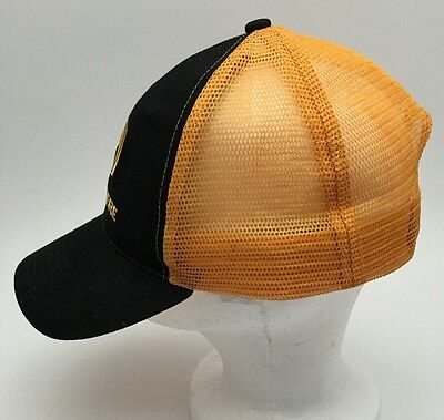 24ef396e879f4 JOHN DEERE YELLOW Black Mesh Trucker Hat Ball Cap Snapback -  14.99 ...