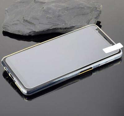 Samsung Galaxy A7 2018  Hülle Silikon Case Tasche Cover + 9H Panzer Folie Glas