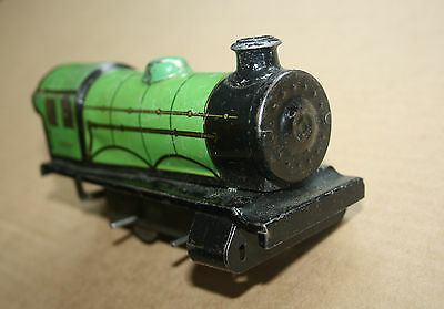 A beautiful  OLD TINPLATE TOY as a  DESK or BOOKCASE ORNAMENT  Hornby 'O' gauge 5