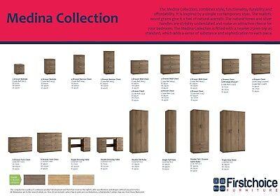 Medina Rimini Oak Chest Of Drawers Set Fully Ready Assembled Bedroom Furniture 2