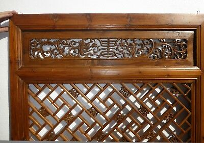 Antique Asian Chinese Carved Chinoiserie Door Panel Wall Hanging 4