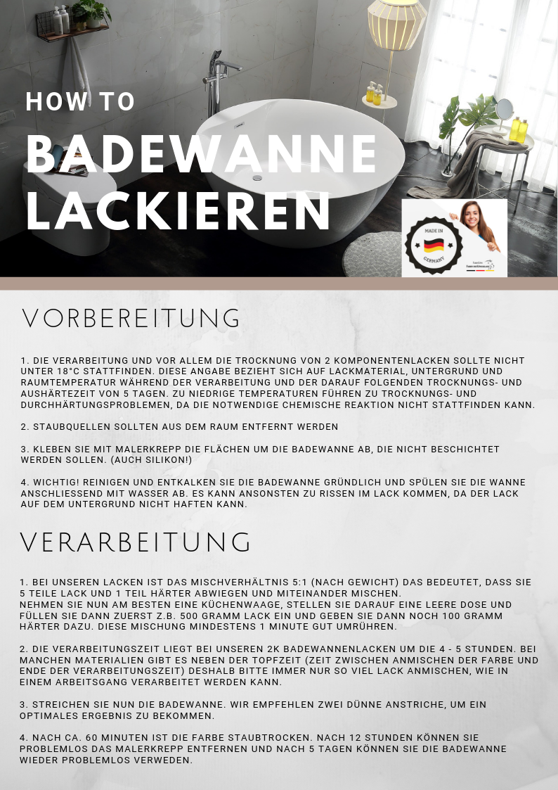 Lausitzer Farbwerke Badewannenlack GFK Badewannenbeschichtung SET Beige 2