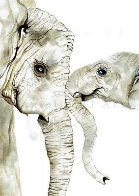 Mother and Baby Animal Print Set safari animals neutral nursery prints
