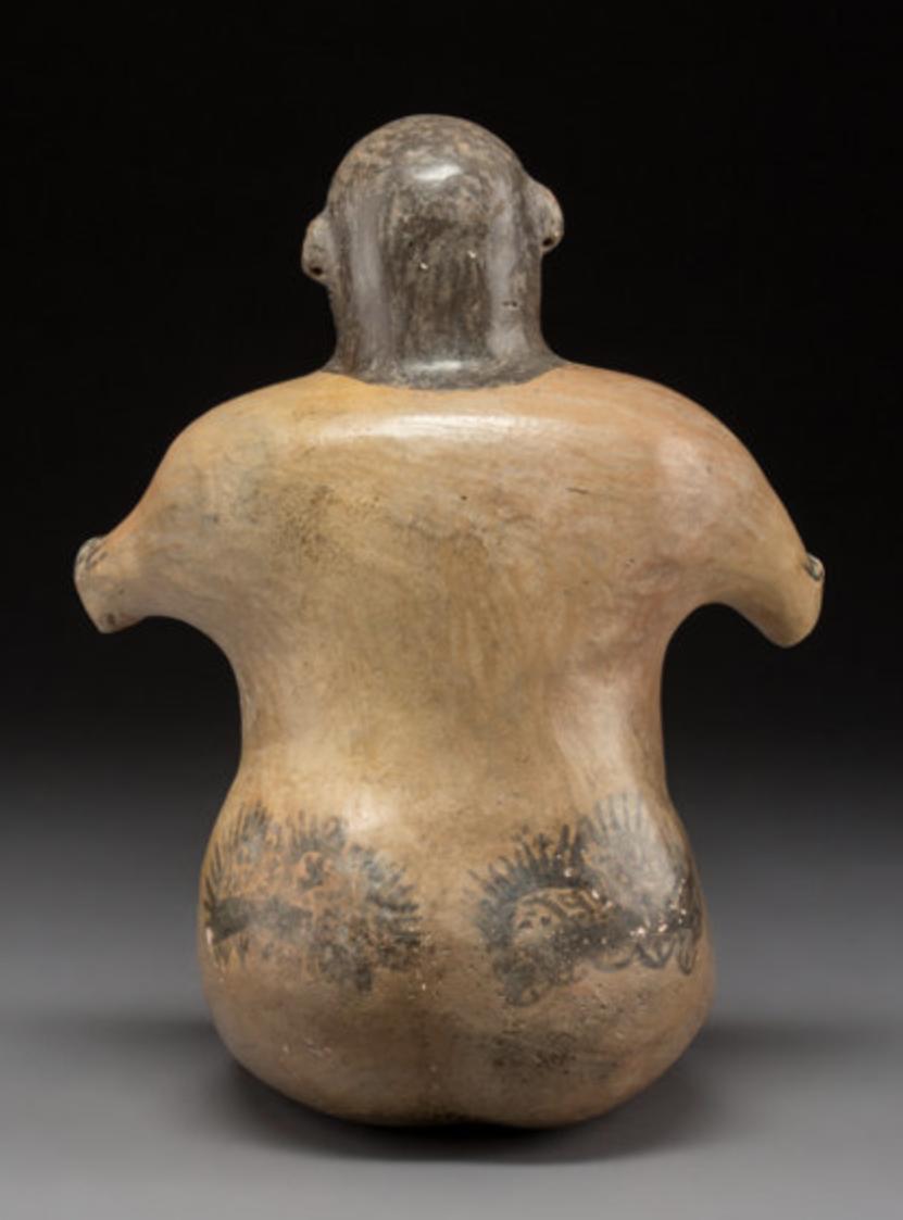 A Rare and Impressive Large Nazca Figure Pre Columbian Art Peru 4
