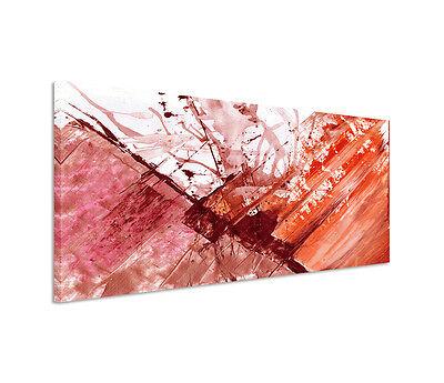 Leinwandbild Panorama rot orange braun creme Paul Sinus Abstrakt/_758/_150x50cm