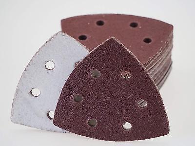 25 Stück Klett-Schleifdreiecke 93x93x93 mm Korn 60 für Delta-Schleifer 6-Loch