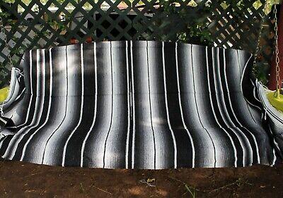 Black Sarape Serape Mexican Blanket Saltillo Southwestern 5' x 7' Yoga Throw 2