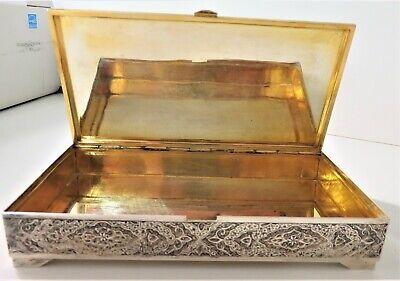 Hallmarked Silver Hand Crafted Jewelry Cigar Box 4