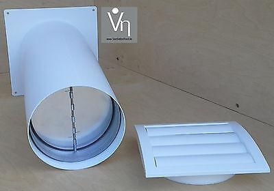Mauerkasten 100 125 150 Dunstabzug Teleskop Rohr LamellenVerschlussklappe