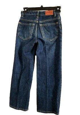 OshKosh B'gosh Boys Straight Leg Medium Wash Adjustable Waist Denim Jeans SZ 7X 2