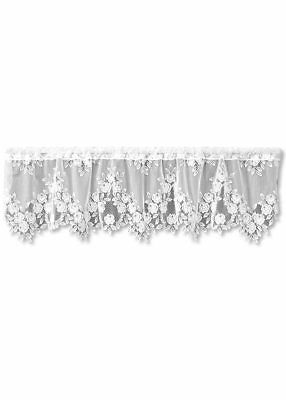 Heritage Lace Tea Rose VALANCE 60x17 WHITE Made in USA 3