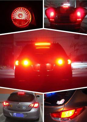 2x 1156 BA15S P21W Red LED 33SMD 5630 Car Turn Signal Blinker Lights DRL 7