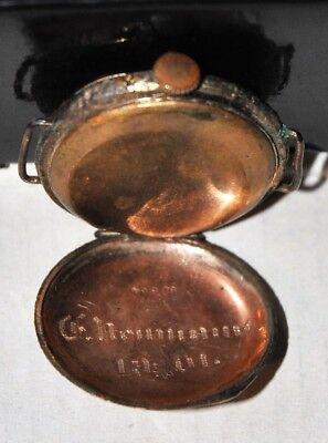 Unikat sehr frühe Armbanduhr, aus Taschenuhr umgearbeitet