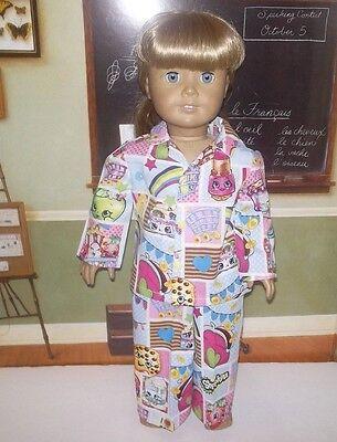 "EASTER BUNNY Pajamas 2 Pc Sleepwear PJs fits American girl /& other 18/"" Doll NWOT"