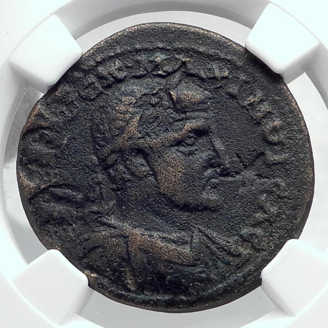 MAXIMINUS I Thrax Ninica-Claudiopolis Cilicia Roman Coin SHE WOLF NGC i80785 2