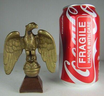 Old Brass Figural EAGLE Finial Sm Decorative Arts Architectural Hardware Topper 12