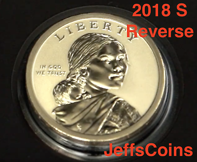 2018 PDSS Proof & REVERSE Native American Sacagawea Coins New Golden Dollars P D 6