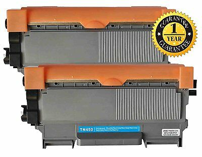 2PC TN450 Toner Cartridge for Brother MFC-7360N DCP-7065DN 7060D HL-2132 2242D