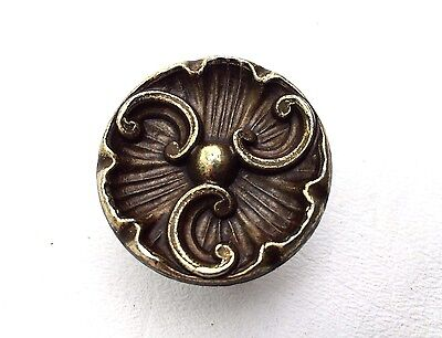 brass flower antique hardware vintage drawer pull knob french provincial